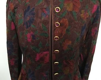 """Vintage 1980's """"Louis Feraud"""" Dress Jacket  with original """"Louis Feraud"""" buttons. Size 12"""