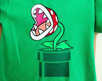 Piranha Plant kids t-shirt