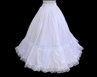 Custom Size Petticoat White Civil War Victorian Wedding Bridal