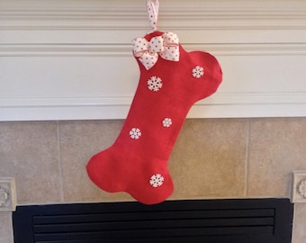 Personalized Dog Christmas Stocking, Personalized Dog Bone Christmas Stocking, Dog Bone Stocking, Dog Christmas Stocking