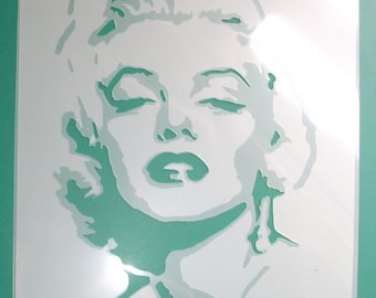 Marilyn Monroe wall art stencil, home decorating stencil, painting & decorating walls, Mariln Monroe Home decor, wall art, art and craft