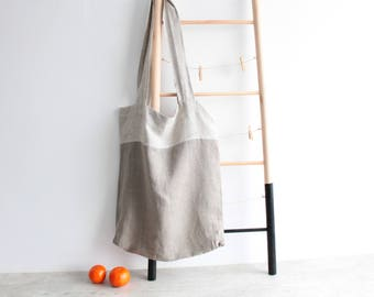 Shopper Bag- Linen Tote Bag- Linen Shoulder Bag- Linen  Tote- Fabric Linen Shopping Bag- Linen Shopping Bag- reusable grocery bag