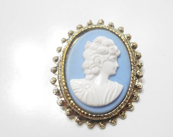 Gorgeous Vintage Framed Cameo Brooch (7431)