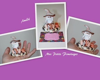 Adkins Pixie sage with polymer clay.