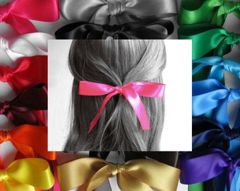 "HAIR RIBBON-7/8"" Satin Hair Ribbons (25"" Long)-Hair Bows, Hair Accessories, Women's Hair Ribbons, Girl's Hair Ribbons, Bad Hair Days"