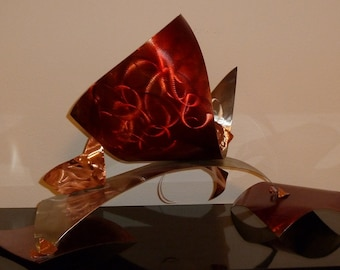 "Abstract Copper Art Sculpture by Dennis Boyd (DB Designs - Creating Metal ""works of art"") Sculpture 11"