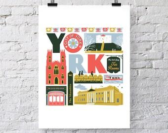 York, England print