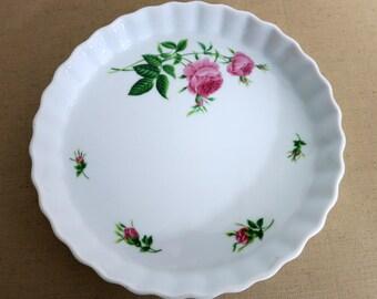 Vintage Christineholm Pie Plate Quiche Dish Vintage Fluted Edge FlanTart Baking Dish Vintage Baking Dish - V211, V286
