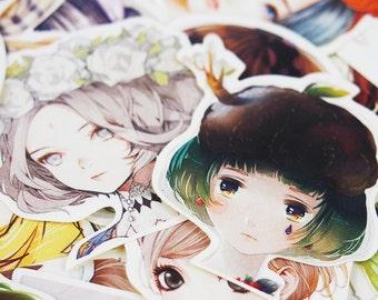 45pcs, Girl stickers, fashion girl, Planner Sticker, kawaii stationary, Scrapbook Sticker, journal, cute sticker, Sticker set