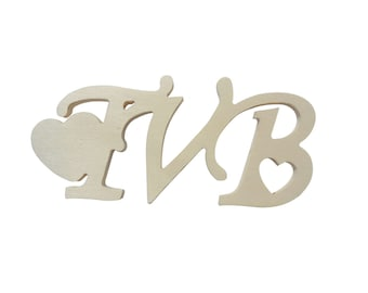 Small wooden writing TVB for do-it-yourself (small parts) 2 pieces
