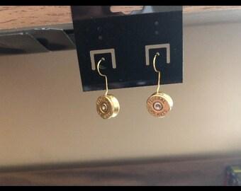 45 caliber bullet earrings