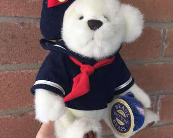 """Vintage Pickford 1996 Brass Button Bears Taylor The Sailor 11"""""""