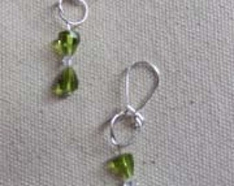 Hourglass Green Earrings