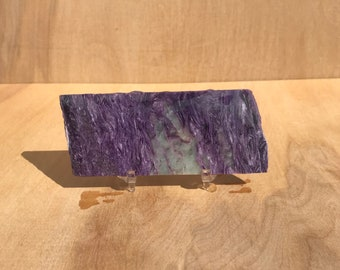 Charoite lapidary slab from Russia