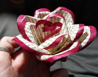Red Tipped Paper Rose