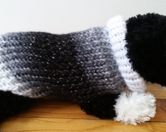 Small Dog Sweater, Small Dog Clothes, Small Dog Outfit, Pet Sweaters for Dogs, Chilly Dogs, Handmade, Eclipse Sparkle Dog Sweater, Dog