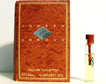 Vintage 1990s Joseph Abboud 0.05 oz Eau de Toilette Splash Sample on Card MEN'S COLOGNE