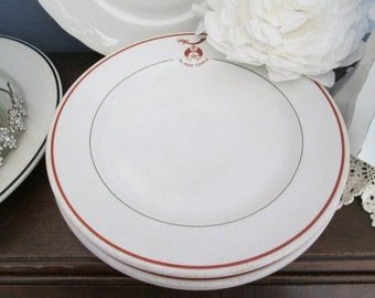 Vintage Restaurant Ware Syracuse China Ironstone Dinner Plate Al Amin Temple Cottage TVAT EPSteam WLVteam Hsh Farmhouse Chic
