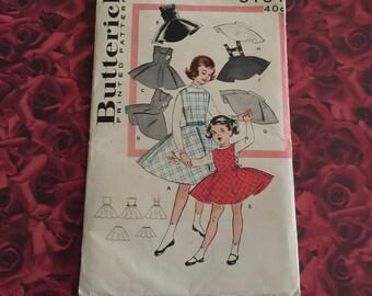 1950's Vintage Girls Butterick Pattern