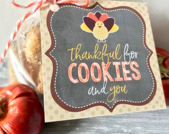 INSTANT DOWNLOAD - Thankful for Cookies Tag