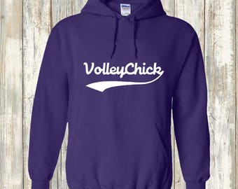Volleyball Hooded Sweatshirt - VolleyChick Swoosh