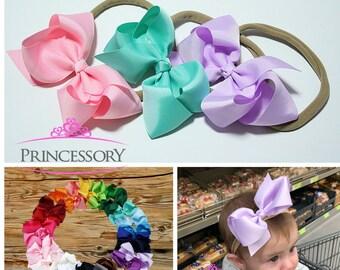 infant headband - newborn headband - nylon headband - bow headband - newborn headband bow - baby girl - hair bows - baby bows
