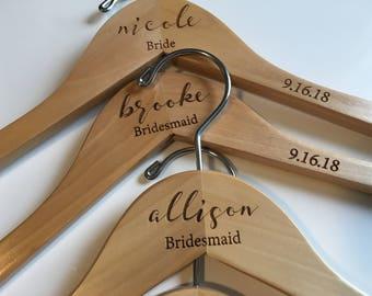 Bridesmaid Hangers | Wedding Dress Hanger | Bride Hanger | Personalized Hangers | Wedding Hanger | Bridal Hanger | Engraved Hangers For You!