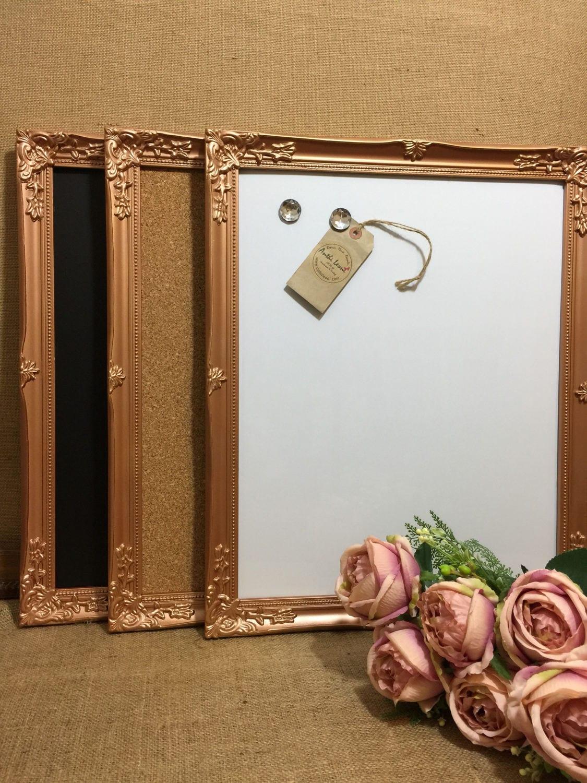 Copper Ornate Framed Notice Board | Metallic Frame Message Board ...