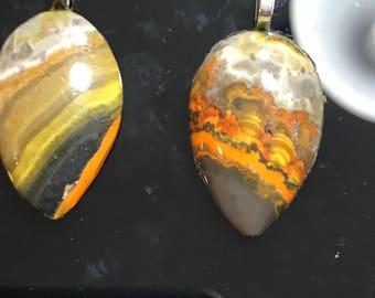 2 Bumble Bee Jasper pendants