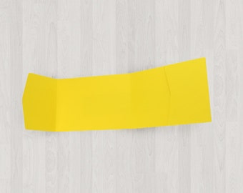 10 Panorama Pocket Enclosures - Yellow - DIY Invitations - Invitation Enclosures for Weddings and Other Events