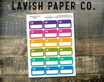 Flight Tracker Box Planner Stickers by Lavish Paper Co.