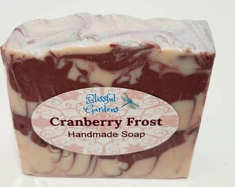 Cranberry Frost handmade soap