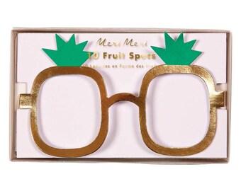 Fruit Eyeglasses (10), Meri Meri Jazzy Fruit Specs, Birthday Party Decor, Fruit Glasses Party Favor, apple, pear, pineapple and strawberries