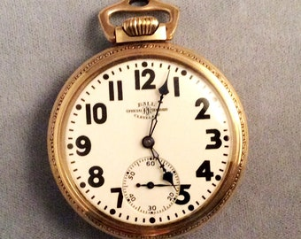 Ball Illinois 23j Pocket Watch, Ultra Rare Railroad Fancy Case, 16s, 23 Jewel 4000 OBO