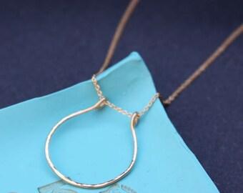 Hufeisen 14K Gold gefüllt Halskette