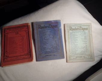 Reader's Digest 1929 and 1936