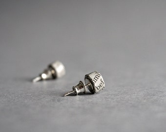 Recycled Newspaper Stud Earrings