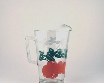 Vintage glass orange juice pitcher - orange juice jug - orange juice pitcher - cheerful pitcher - breakfast pitcher - brunch server