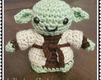 Made to order Crochet Star Wars Yoda amigurumi doll with removable cloak