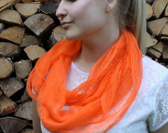 Linen Infinity Scarf Scandinavian Summer Fashion Summer Accessories Women's Scarves Linen Wrap Scarf Infinity Scarves Circle Scarf