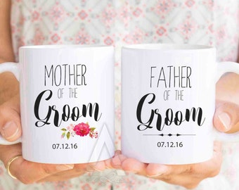 mother of the groom gift, personalized mugs, father of the groom gifts,wedding gifts for parents, mother of the groom gift from bride MU239