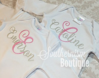 Baby Girl Coming Home Outfit, Baby Girl Set, Newborn Gown with name, Monogrammed Baby Gown, Going Home Outfit, Baby Shower gift