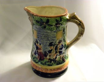 Vintage Medieval Town Scene Pitcher (JAPAN) from the 60's