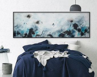 large seascape Painting Abstract painting Horizontal wall art minimalist modern ocean waves tides water art painting Modern contemporary