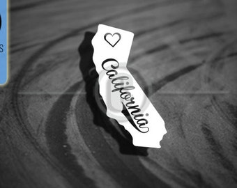 Love California State - Car Vinyl Decal