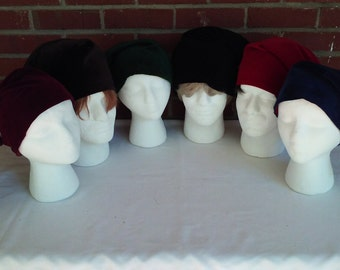 Victorian Gentlemen's velveteen sleeping caps in six colors