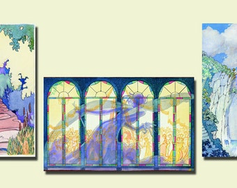 Kids, Nursery, Art, Children, Baby, Original Watercolor Prints, Set of 3, A3 (11.7 x 16.5), Free Shipping!