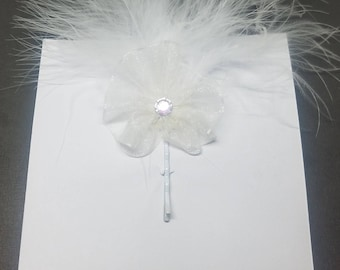 Feather Bridal Hair Accessories/ Wedding Day/ Love/Hair Pieces/ Clips/ Wedding/Bridal/ Marrage/Special Day/Union/Handcrafted/Nats Bridal/