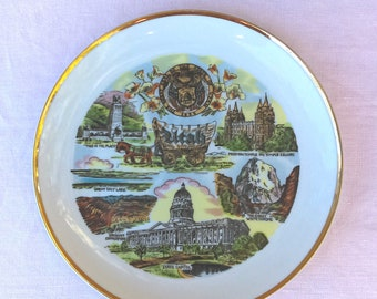 Small State Souvenir Plate Utah: Decorative Use Only, Collectible, Memorabilia, Gallery Wall