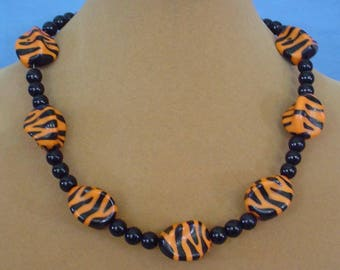 """18"""" """"Tiger"""" Theme Necklace - N565"""